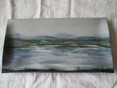 Large Stunning One-Off Landscape Piece Of Highland Stoneware (Signed)