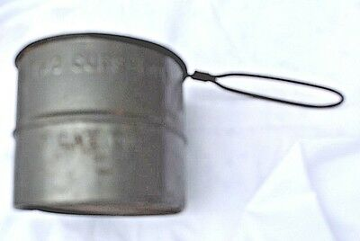 Vintage Metal Sifter 2 Cup Made in USA