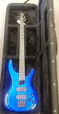 Tanglewood TE-4 Alpha passive bass guitar with Stagg hardfoam case, pre owned,