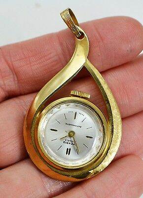 Vintage SPENDID 17 Jewels Swiss Made Mechanical PENDANT WATCH in Working Order