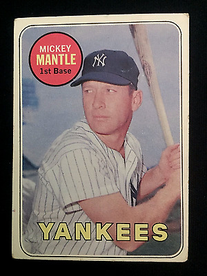 1969 Mickey Mantle Toops #500 last year, name in Yellow