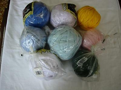 8 balls Nylotex Qualicraft Weaving Cord lavender,white,blue,yellow,peach,green