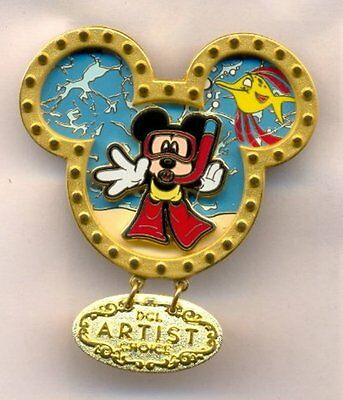 Disney Mickey Snorkeling DCL Cruise Line Artist Choice Dangle LE Pin