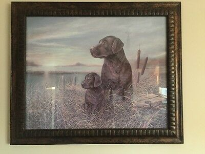 "Black Labrador Retriever Dog Print Ruane Manning ""INHERITED LOYALTY"" Painting"