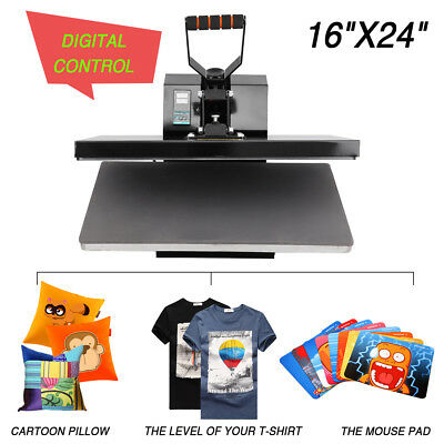 "Pro 16"" x 24"" T-Shirt Heat Press Sublimation Transfer Machine Clamshell Digital"
