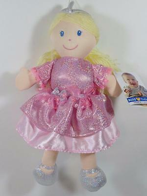 New Kids Preferred Girl's Plush Glittery Pink & Silver Yellow Hair PRINCESS Doll