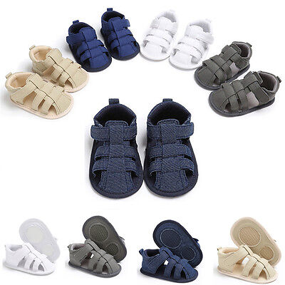 Soft Summer Baby Boy Girl Sandals Toddler Prewalker Sole Kids Crib Newborn Shoes