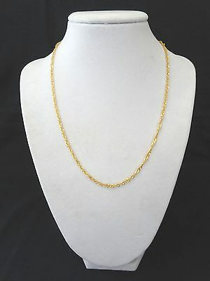 """New 14K Yellow Gold 18"""" Diamond Cut Twist Necklace Made in Italy"""