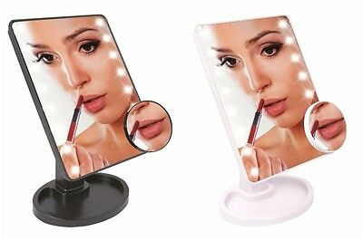 Magnifying LED Cosmetic Mirror Touch Sensitive Light Control w/ Make up Tray