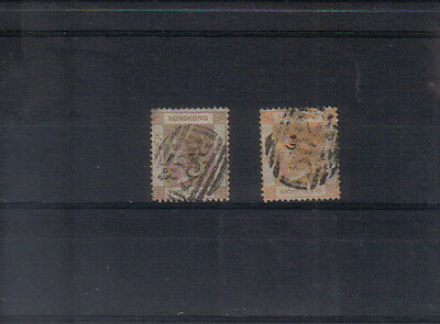 Hong Kong Q Victoria 1863-71 2c and 8c used