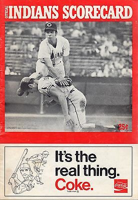1971 Apr. 18 G1 Baseball program Washington Senators @ Cleveland Indians, scored