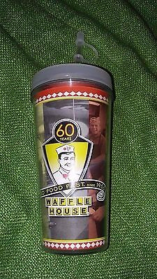 New Waffle House 2105 Roadshow Cup Straw Carry NICE 60 YEARS Coffee Hot Cold