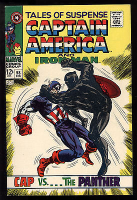 Tales of Suspense (1959) #98 Dbl Cvr Black Panther Kirby Capt America VF/NM /NM-