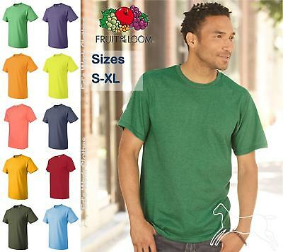 Fruit of the Loom Mens Blank Short Sleeve Heavy Cotton HD T Shirt 3930R S-XL