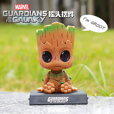 "Hot Cute 4"" Toys Guardians of the Galaxy Vol 2 Groot Bobble head Marvel Gifts"