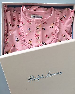 GIFT BOX/BNWT Ralph Lauren baby girls' all-in-one pink floral age 6 months