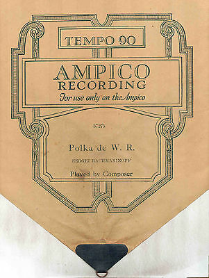 162m  Lot of Ten Ampico Piano Rolls - Boxes are damaged, but rolls are mostly OK
