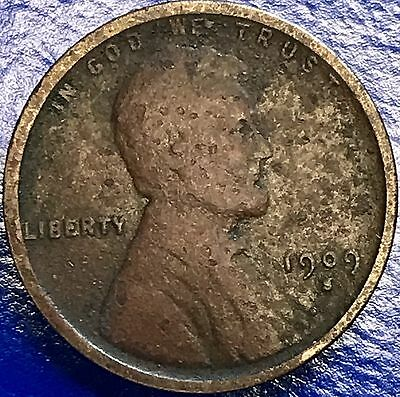 1909 S Wheat Penny Lincoln Cent 1c nice coin RARE Key Date San Francisco #5606