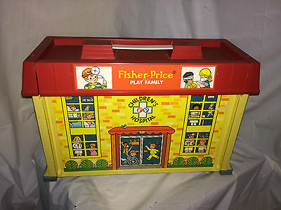 Fisher Price #931 Vintage 1976 Play Family Children's Hospital *BUILDING ONLY*