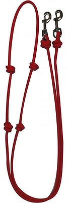 Showman RED Western Nylon Barrel Reins w/ Snaps! NEW HORSE TACK!