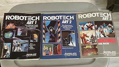 Robotech Art Books 1,2 and 3. Official Guide, New Artwork and the Sentinels