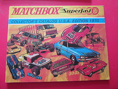 Matchbox Superfast Collector's Catalog USA Edition catalogue 1970  VGC booklet