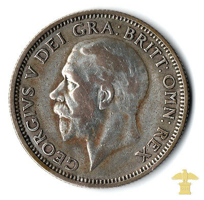 1926 Silver One Shilling Of George V    #323