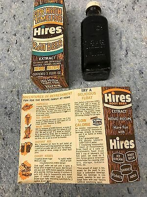 Hires Root Beer Extract vintage bottle Original Box and directions