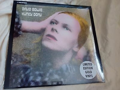 David Bowie Hunky Dory Gold Limited Edition Vinyl LP New and Sealed