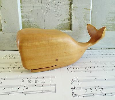 Vintage Wooden Hand Carved Whale
