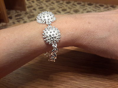 Brand new 925 stamped Silver chunky Bracelet with gift box