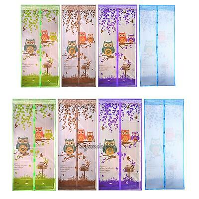 Hands Free Mesh Screen Net Anti-Insect Fly Mosquito Magnetic Tulle Door Curtain