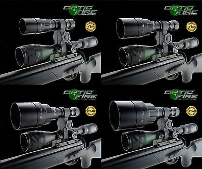Opticfire® AG LED Scope mount gun light hunting lamp night vision NV IR torch