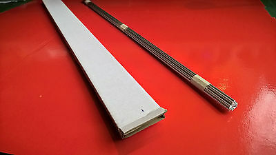 Aluminium welding rods type 1100.Diameter 2.4mm , 10 pcs x 500mm/50cm.