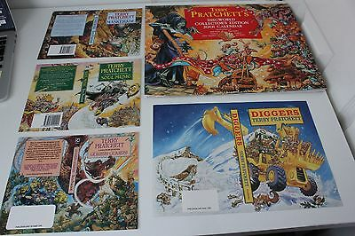 2001 Discworld Collectors Calendar + 4 book cover proofs by Josh Kirby