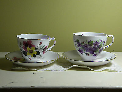 Vintage Tea Cup And Saucer- Queen Anne Bone China Pattern #8423- #8303
