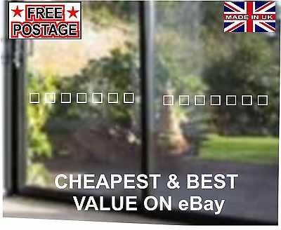 Glass Door Safety decals/stickers for Patio,Conservatory, Partitioning, Windows