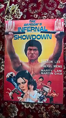 The Dragons Infernal Showdown   - Original Asian Cinema Poster.38 X27 Inches