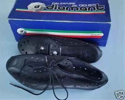 Vintage Leather Cycling Shoes Size 42 (Italy) Eroica - NOS