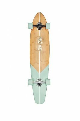 "Ten Toes Boards Emporium Zed Bamboo Longboard Skateboard Cruiser 44"" Aqua... New"