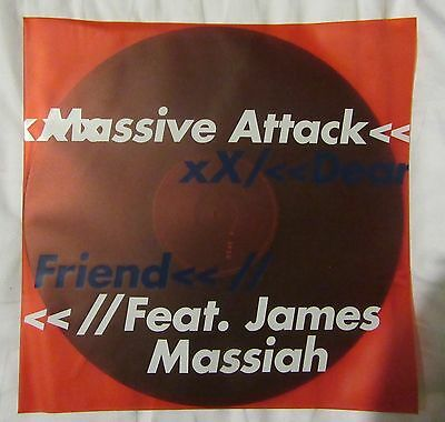 "Massive Attack – Dear Friend ft. James Massiah 12"" Limited Edition Vinyl Record"