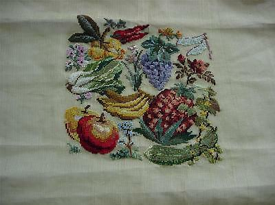 Fruit & Vegetables Pre-Worked Chair Seat or Pillow Penelope Needlepoint Canvas