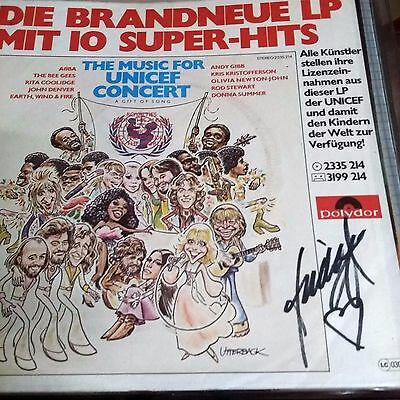 Abba Unicef single signed by Frida