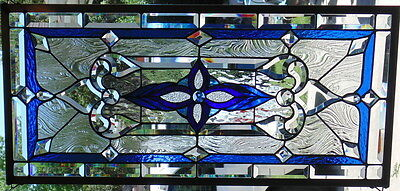 Stained Glass window hanging 34 1/2 X 17""