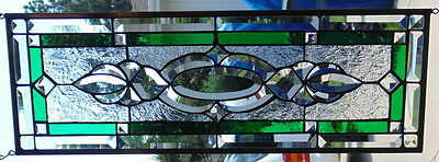 """Stained Glass window hanging 25 1/4 X  8 1/2"""""""