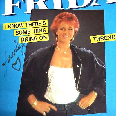 Frida signed French label single I Know there's something going on /Threnody