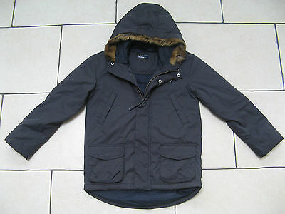 Genuine Boys Fred Perry Navy Blue Jacket / Coat Hooded 7-8 Years Ideal Winter