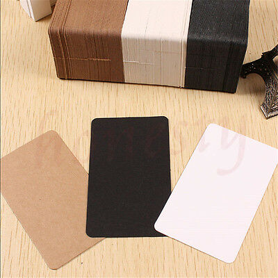 100pcs Greeting Blank Card Trading Business DIY Paper Label Name Tag 9cm*5.4cm