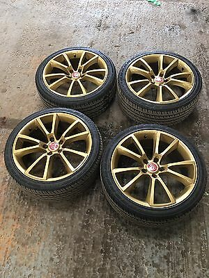 "18"" Vauxhall Astra Vxr Style Alloy Wheels With Tyres Gold Alloys"