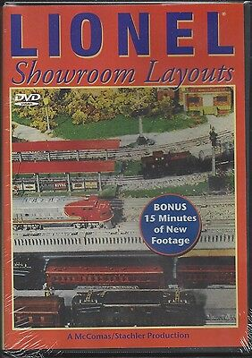 LIONEL SHOWROOM LAYOUTS DVD  --  The most treasured Lionel layout ever (NEW)